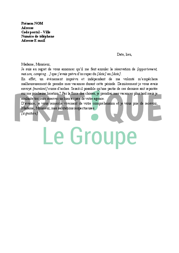 photo lettre annulation modele lettre