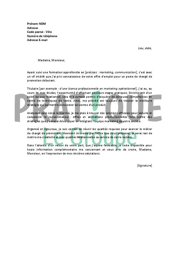 lettre motivation pour une formation