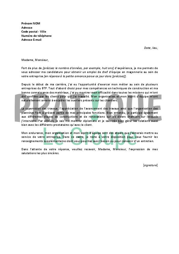 lettre motivation poste