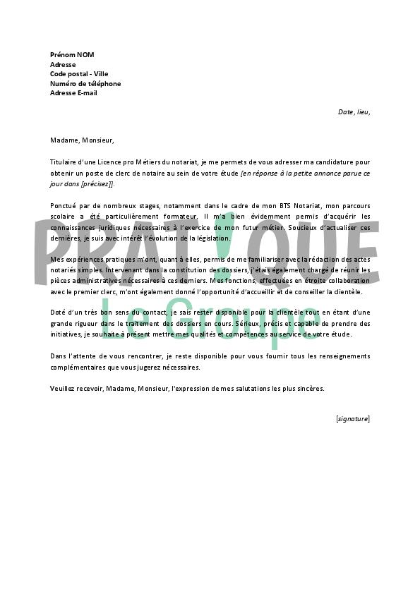photo lettre de motivation stage notaire modele lettre