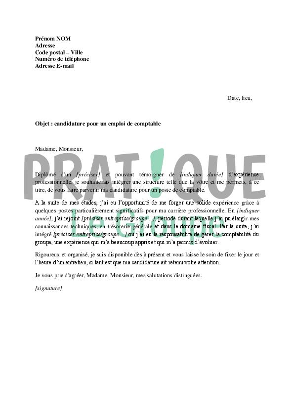 lettre de motivation candidature emploi
