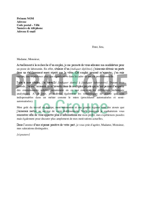 lettre motivation gratuite