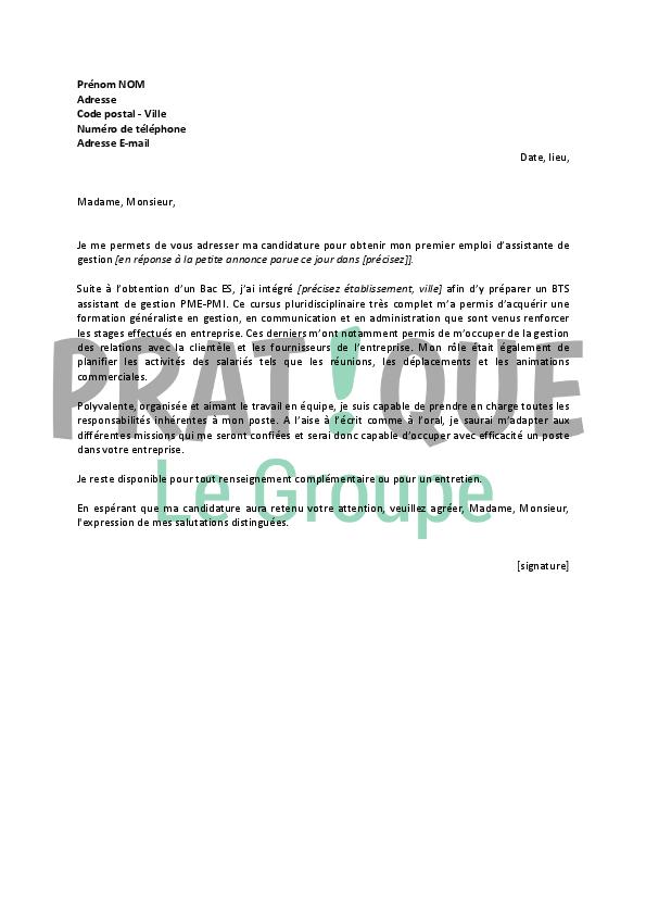 meilleur lettre de motivation pour assistant de gestion administrative modele de lettre