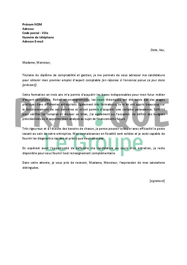 photo lettre de motivation comptable debutant modele lettre