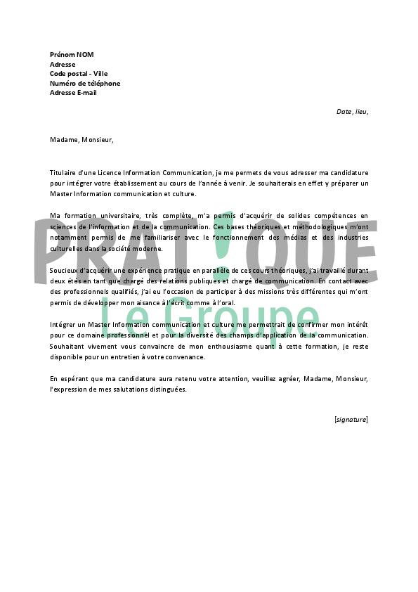photo lettre de motivation candidature master lettre de motivation