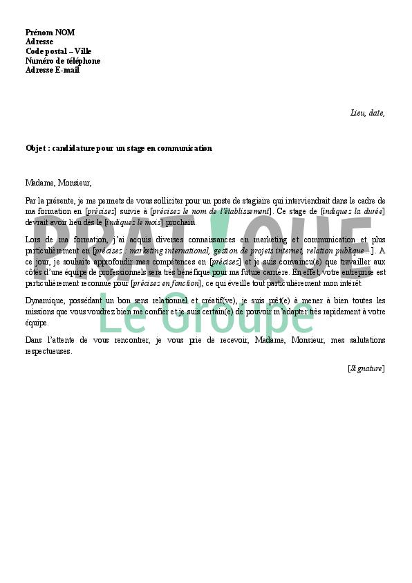 lettre de cv bac pro communication visuelle