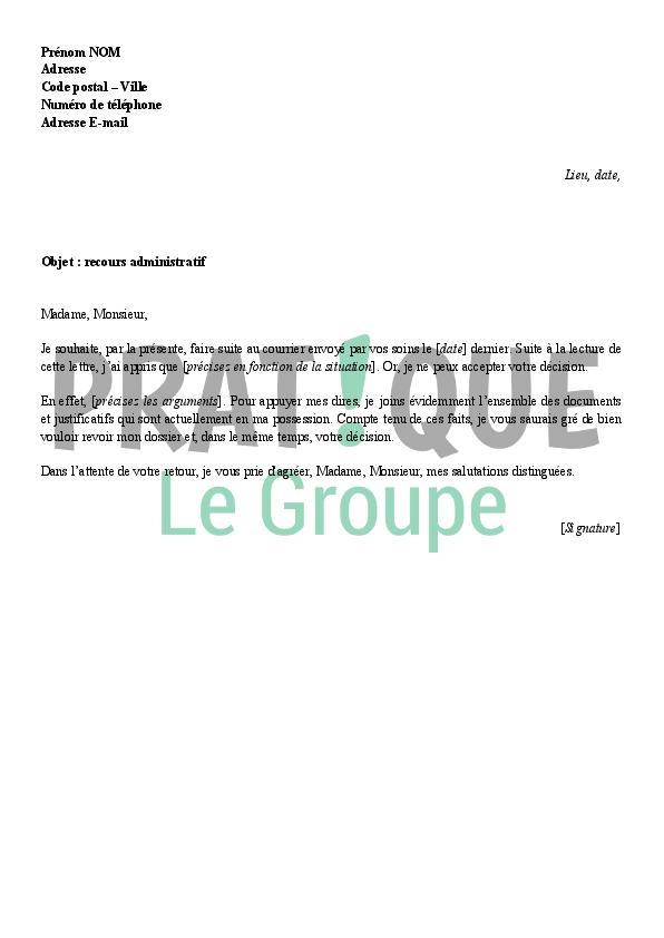 photo exemple de courrier administratif modele lettre