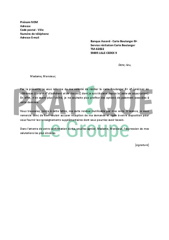 exemple lettre resiliation byou exemple de lettre