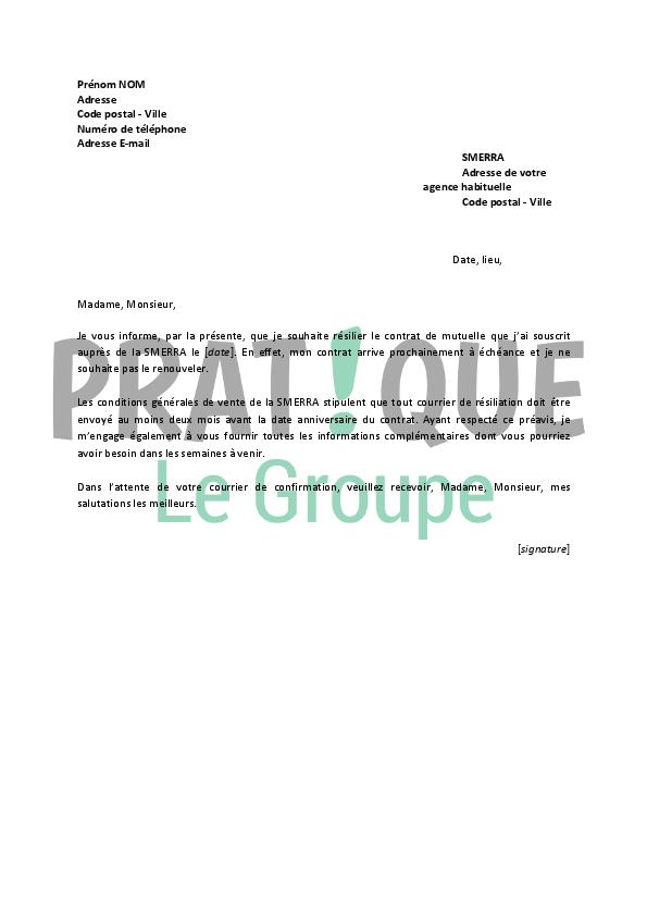 photo modele de lettre de resiliation mutuelle modele lettre