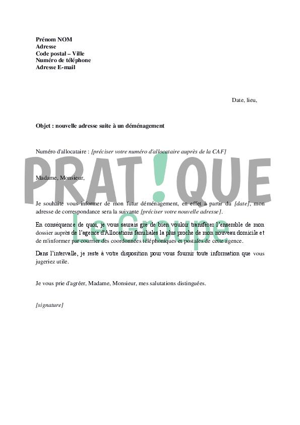 exemple de lettre
