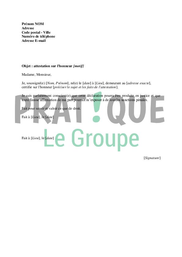 photo lettre administrative declaration sur lhonneur lettre de motivation