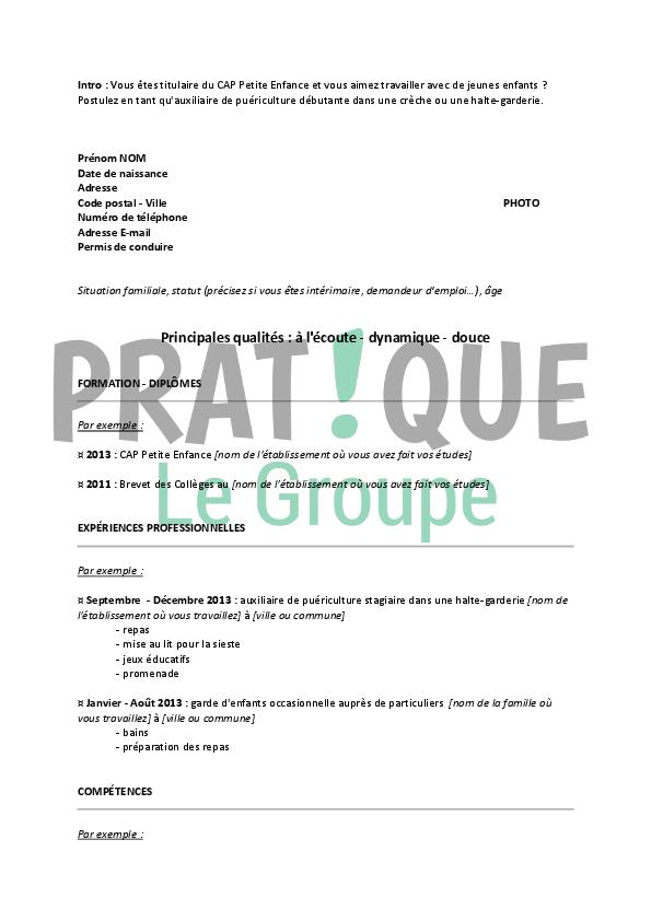lettre de cv pour travailler