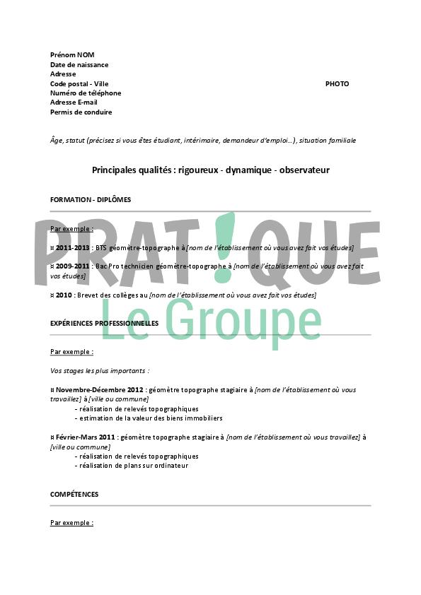 metre un cv en pdf