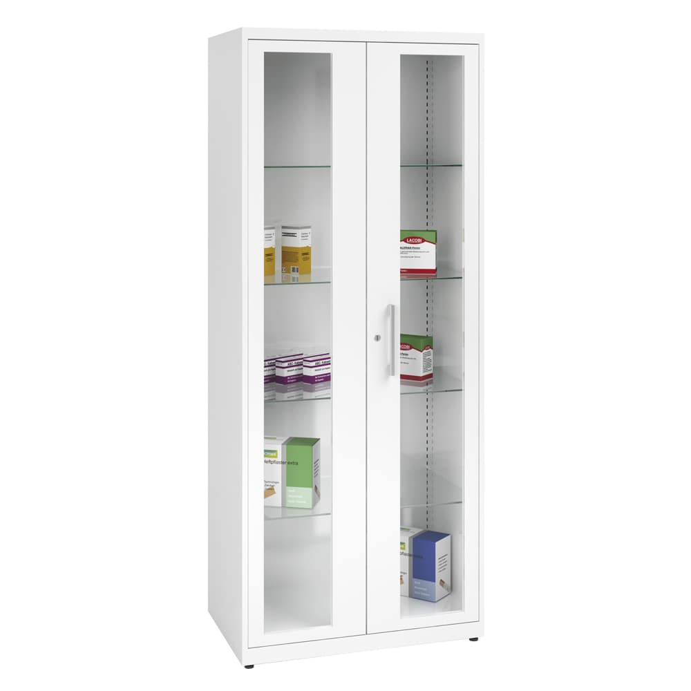 Latex Ral 9010 Steel Medicine Cabinet Wide White Ral 9010