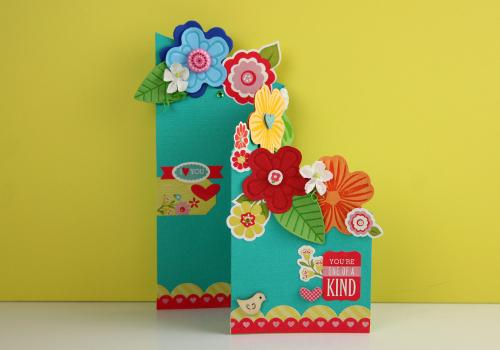 Climbing Bouquet Tri-Fold Card FaveCrafts