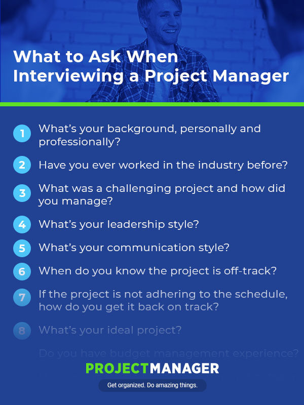 The 23 Best Project Manager Interview Questions - ProjectManager