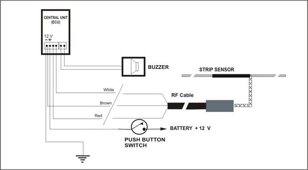 wiring diagram for rear parking sensors