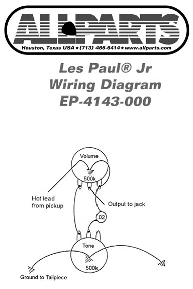 gibson les paul junior wiring diagram