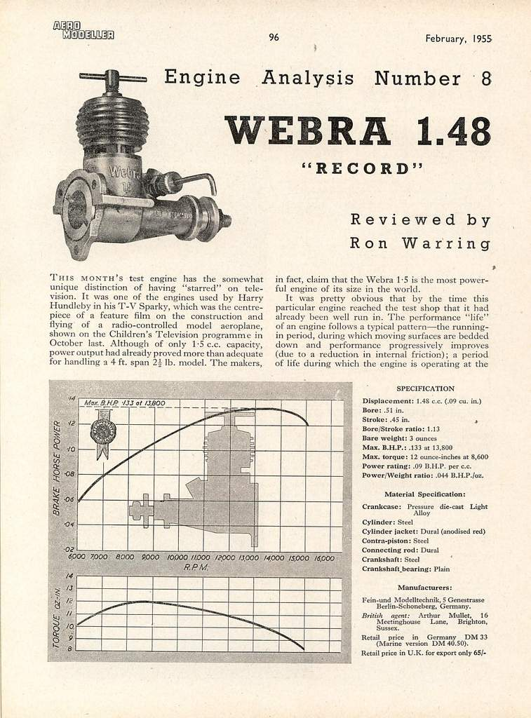 Exploded view Webra Record diesel - RCU Forums