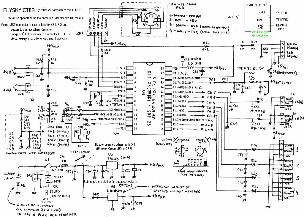 rc helicopters circuit diagram