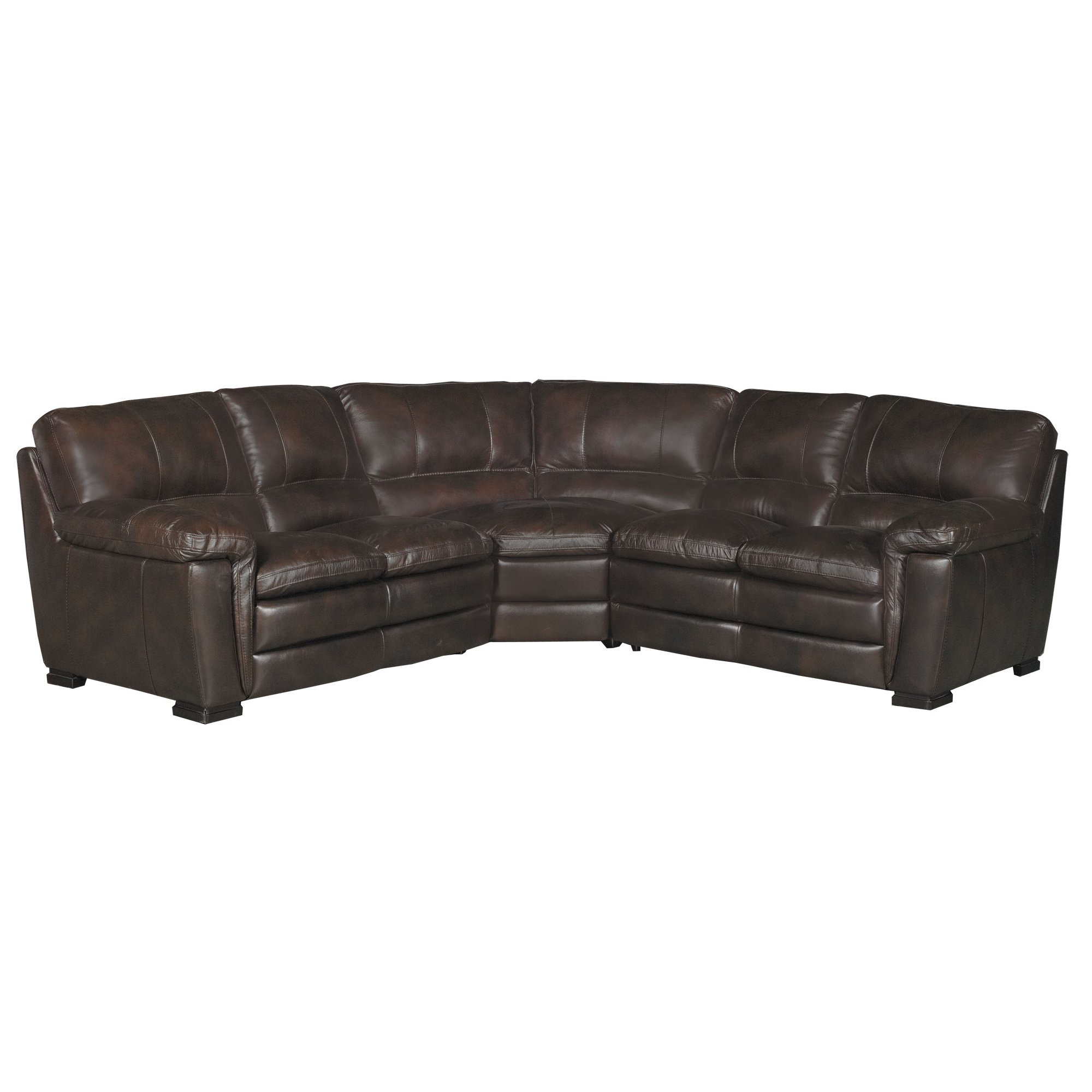 Brown Real Leather Couch Contemporary 3 Piece Brown Leather Sectional Sofa Tanner