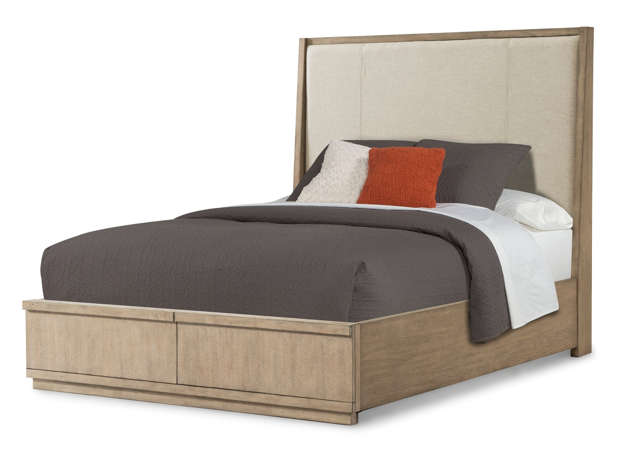 Bed Furniture Stores Melbourne Modern Driftwood Gray 6 Piece Queen Bedroom Set