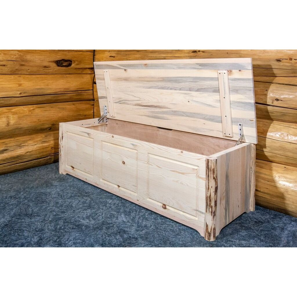 Wood Blanket Box Blanket Chest Montana