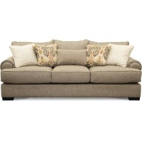Casual Traditional Taupe Sofa - Bereta   RC Willey ...
