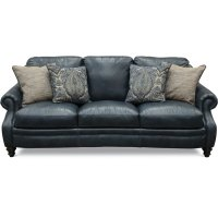 Classic Traditional Navy Blue Leather Sofa - Admiral | RC ...