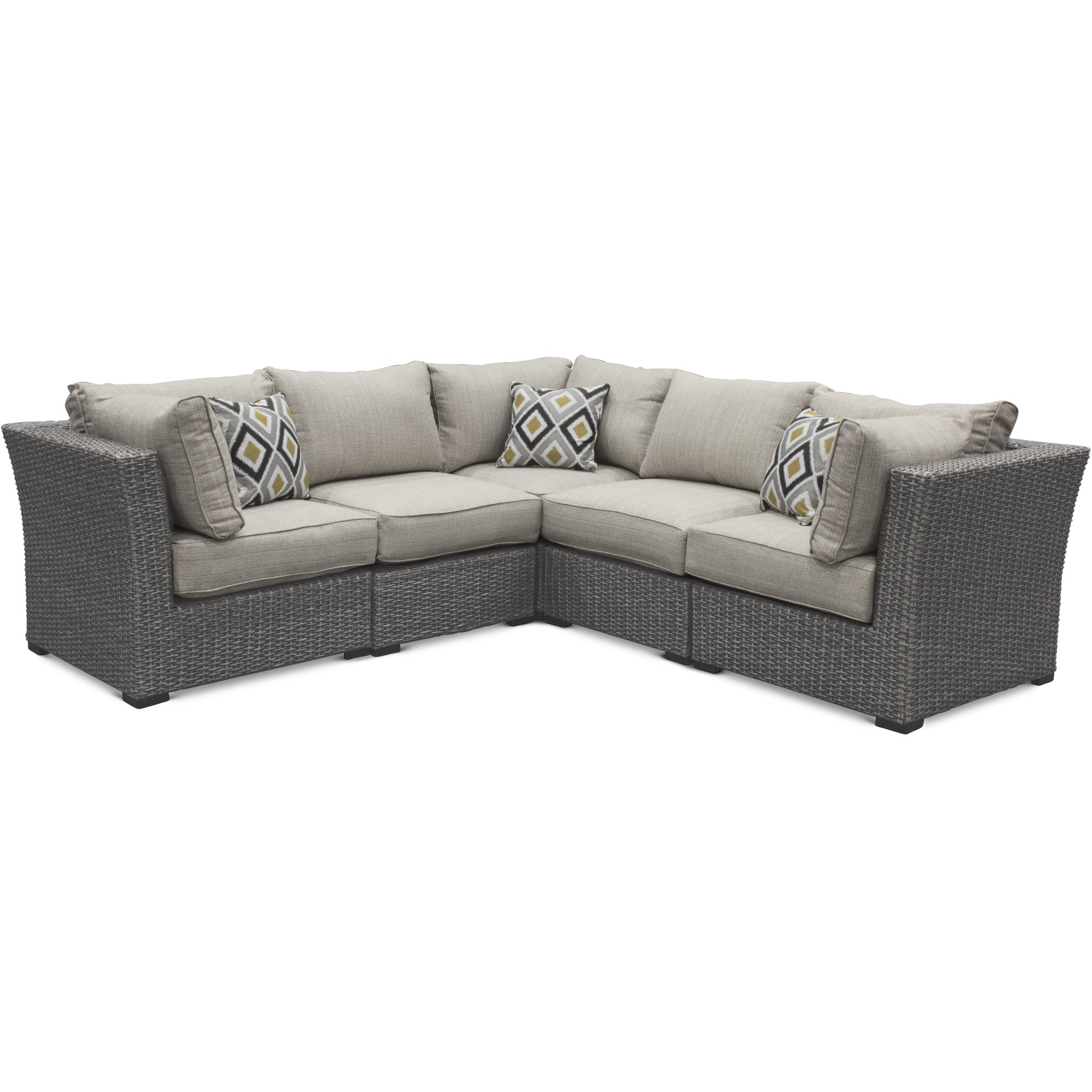 5 Piece Outdoor Patio Sectional Sofa Tahoe Rc Willey