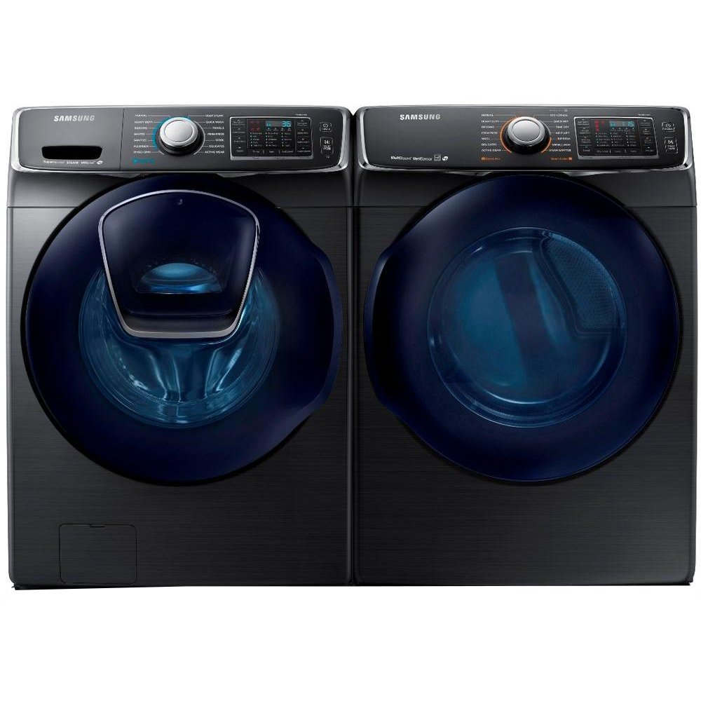 Samsung Front Load Washer Samsung Laundry Pair With Front Load Washer And Gas Dryer Black Stainless Steel Gas