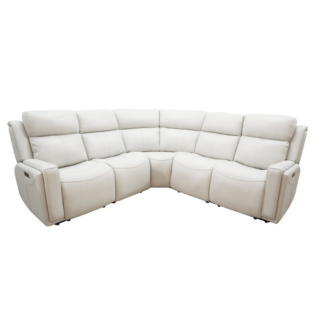 Ice White Leather Match Power Reclining Sectional Sofa Stratus Rc Willey Furniture Store