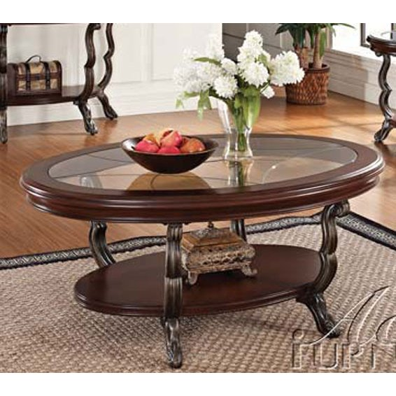 Couchtisch Oval Glas Oval Glass Top Coffee Table - Bravo | Rc Willey Furniture
