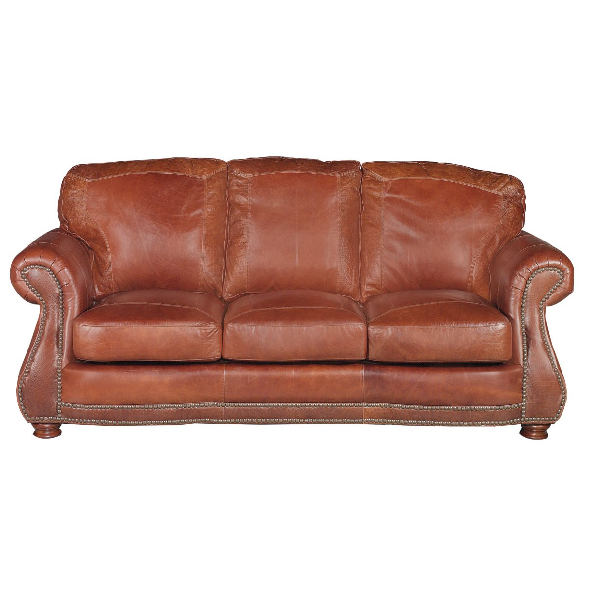 Brown Real Leather Couch Traditional Brandy Brown Leather Sofa Brandy