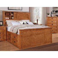 Dixie Oak King Bookcase Storage Bed | RC Willey Furniture ...