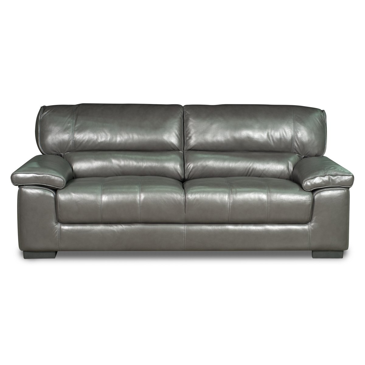 Gray Leather Sofa Milan 89 Quot Grey Leather Sofa