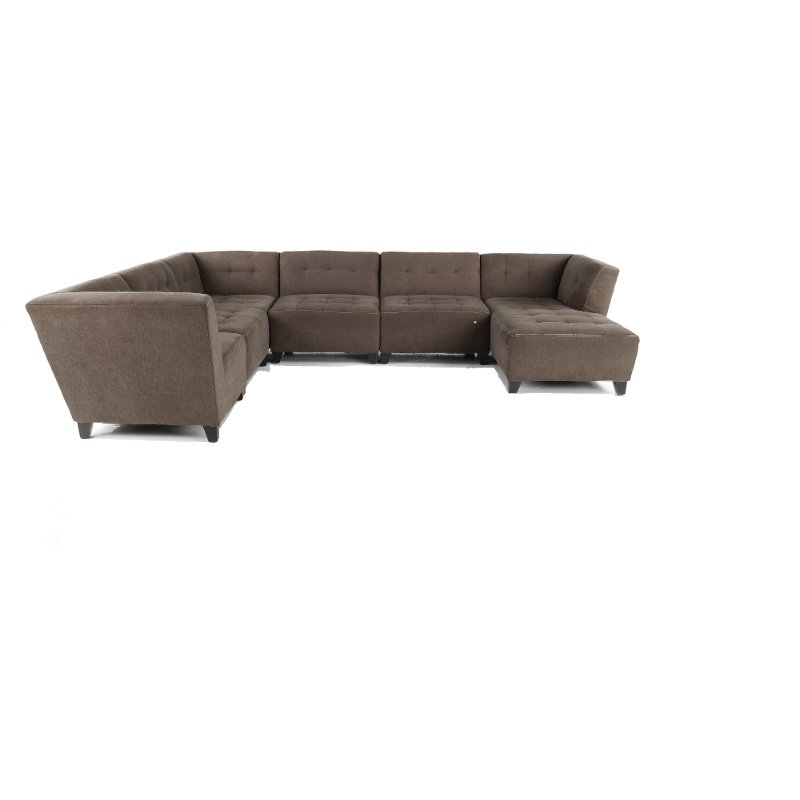 Sofa Modern Granite Gray Classic Modern 6 Piece Sectional Sofa Blaire