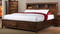 Brown Rustic Classic 6-Piece California King Bedroom Set ...