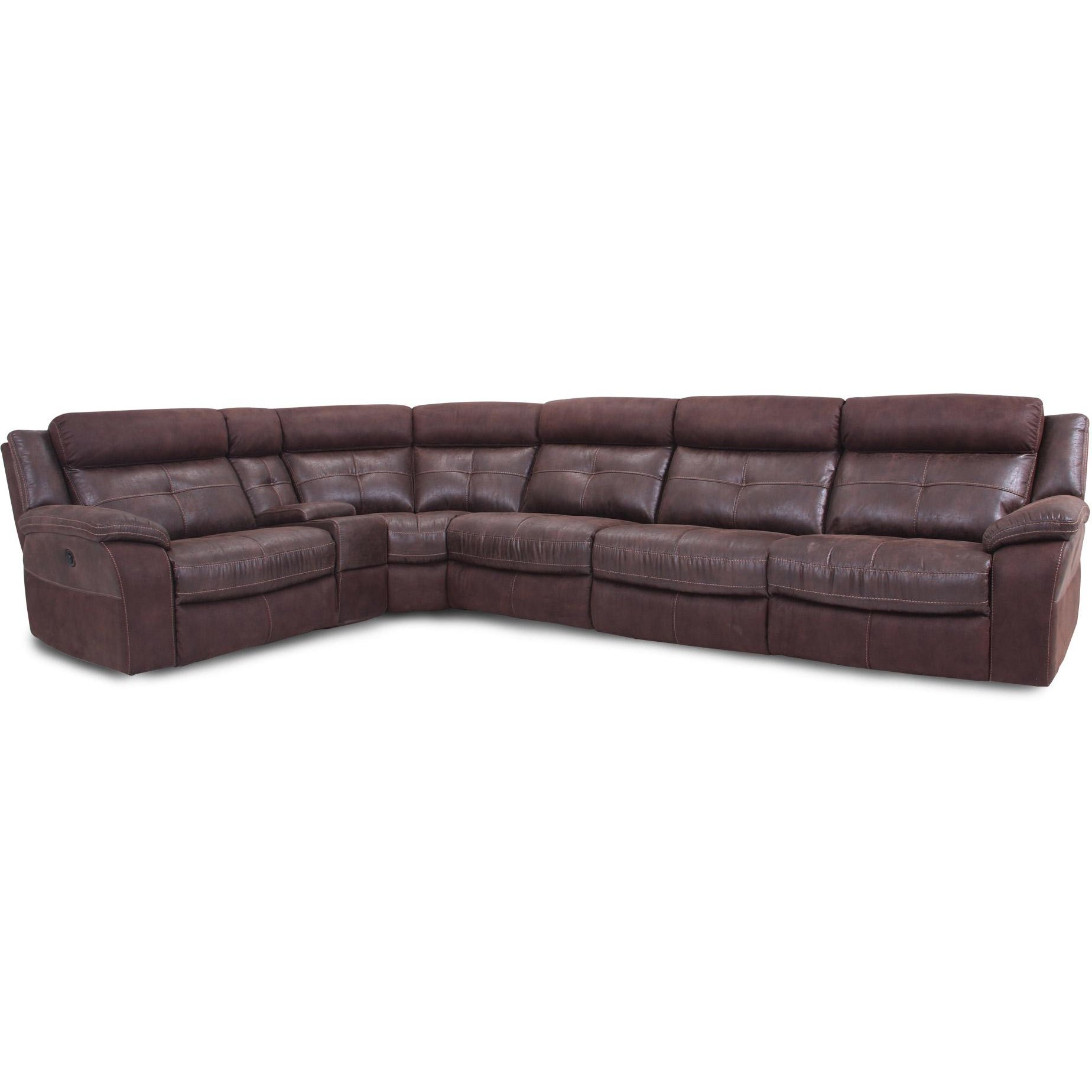 Microfiber Sectional Sofa Brown 6 Piece 3x Power Reclining Sectional Sofa Denver