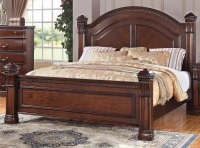 Dark Pine Traditional 6 Piece Queen Bedroom Set - Isabella ...