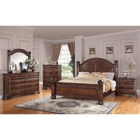 Isabella Dark Pine 6-Piece Queen Bedroom Set