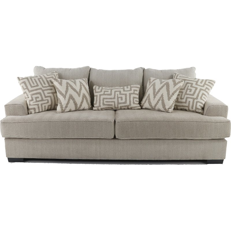 Sofa Palette Casual Contemporary Oatmeal Sofa Renegade