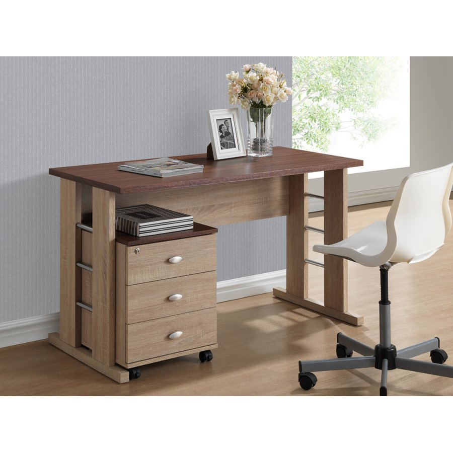 Desk With File Cabinet Natural Writing Desk And File Cabinet Woodrow