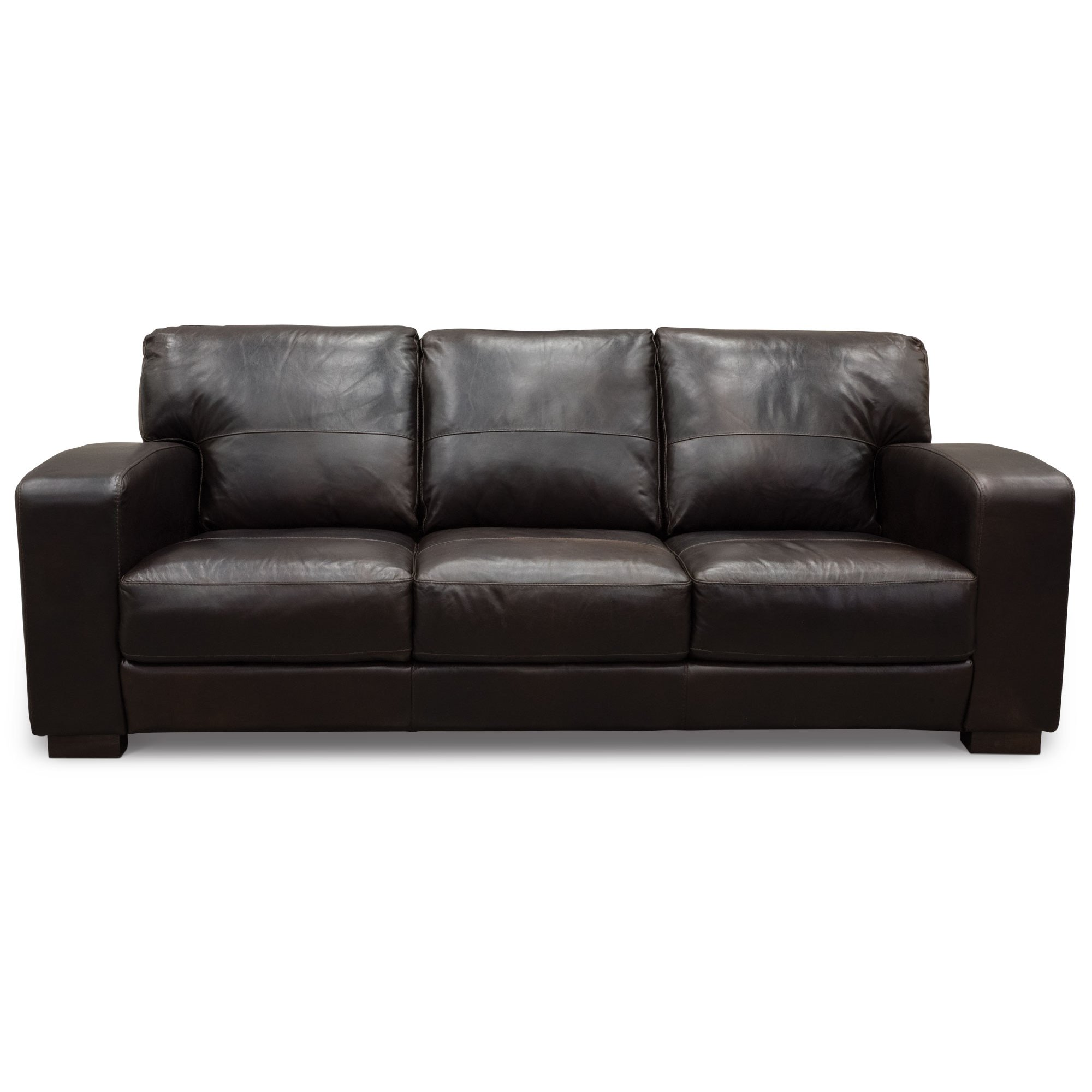Contemporary Brown Leather Sofa Style Of Decorate With
