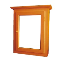 Solid Wood Medicine Cabinet Mirror Door Flush Surface Mount