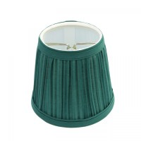 "Lamp Shade Hunter Green Fabric 4 1/16"" H Mini Clip On"