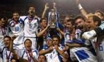 Selebrasi Para Pemain Yunani Saat Menjuarai Piala Eropa