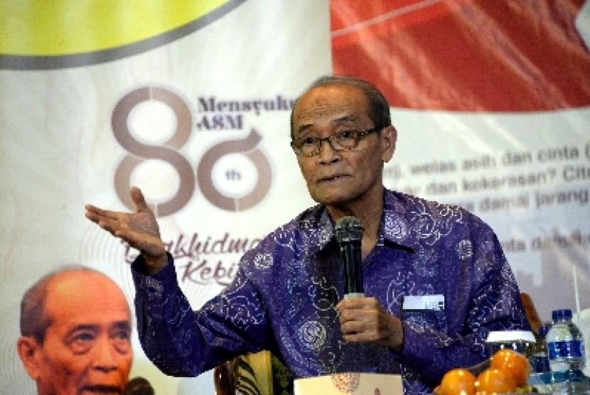 Mantan ketua umum PP Muhammadiyah Ahmad Syafii Maarif.