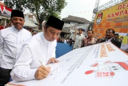 pasangan calon walikota dan wakil walikota tangerang arief wismansyah