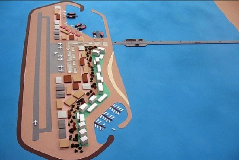 Pulau buatan di Jalur Gaza